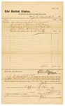1878 October 31: Voucher, to J.E. Bennett, M.D.; includes cost for services rendered and medicine furnished for prisoners in U.S. jail; D.P. Upham, U.S. marshal; Stephen Wheeler, clerk