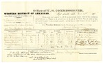 1878 October 31: Voucher, U.S. v. Aaron Merrill, assault with intent to kill; includes cost of per diem and mileage; C.H. Taylor, John J. Ankrom, Alexander Stewart, Stacey Taylor, and Mark J. Ankrom, witnesses; John Paterson, witness of signatures; D.P. Upham, U.S. marshal; James Brizzolara, commissioner; William H.H. Clayton, U.S. attorney