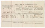 1879 March 6: Voucher, U.S. v. Frank Eastman, assault with intent to kill in Indian County; includes cost of per diem and mileage; Jacob E. Palmer, Thomas J. Wall, and Willie Huff, witnesses; John Paterson, witness of signature; D.P. Upham, U.S. marshal; Stephen Wheeler, commissioner