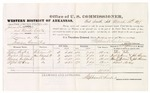 1879 March 12: Voucher, U.S. v. Johnson Baldridge and Mack Coats, larceny in the Indian Country; includes cost of per diem and mileage; Ethie Foster, Taylor Parris, Moses Hubbard, Alfred McKay, witnesses; John Paterson, witness of signatures; D.P. Upham, U.S. marshal; Stephen Wheeler, commissioner