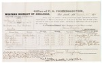 1879 March 12: Voucher, U.S. v. Frank Hall, arson in the Indian Country; includes cost of per diem and mileage; Lorenzo D. Davis, S.G. Mabry, J.L. Brown, George A. Crane, and Henry McClure, witnesses; John Paterson, witness of signatures; D.P. Upham, U.S. marshal; James Brizzolara, commissioner; John A. Yroee, U.S. district attorney