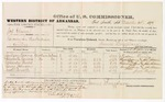 1879 March 13: Voucher, U.S. v. Joshua Glann, larceny in the Indian Country; includes cost of per diem and mileage; Jackson Loving, Elizabeth Loving, Alexander Burns, Henry Johnson, and Jacob Russell, witnesses; John Paterson, witness of signatures; D.P. Upham, U.S. marshal; James Brizzolara, commissioner; William H.H. Clayton, U.S. attorney