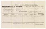 1879 March 19: Voucher, U.S. v. Washington Wesley, larceny; includes cost of per diem and mileage; C.C. Martin, witness; D.P. Upham, U.S. marshal; Stephen Wheeler, commissioner
