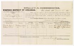 1879 March 19: Voucher, U.S. v. Austin Pursley, larceny in the Indian Country; includes cost of per diem and mileage; Howell John and Moses Fleir, witnesses; John Paterson, witness of signatures; D.P. Upham, U.S. marshal; James Brizzolara, commissioner