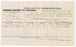 1879 March 21: Voucher, U.S. v. Steve Johnson, larceny; includes cost of per diem and mileage; Benjamin Grubbs, witness; D.P. Upham, U.S. marshal; James Brizzolara, commissioner