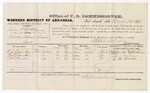 1879 March 25: Voucher, U.S. v. John P. McAdams, violating internal revenue laws; includes cost of per diem and mileage; N.J. Quinton, Joel S. Quinton, and G.W. Brooks, witnesses; John Paterson, witness of signatures; D.P. Upham, U.S. marshal; Stephen Wheeler, commissioner