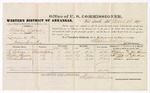 1879 March 26: Voucher, U.S. v. Allenton Leflore, larceny; includes cost of per diem and mileage; Pe Robson, Nathan J. Henslee, and William Wommock, witnesses; John Paterson, witness of signatures; D.P. Upham, U.S. marshal; Stephen Wheeler, commissioner