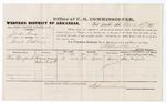 1879 March 27: Voucher, U.S. v. Jack Gray, illicit distilling; includes cost of per diem and mileage; Alex Mayfield, witness; D.P. Upham, U.S. marshal; Stephen Wheeler, commissioner