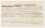 1879 March 28: Voucher, U.S. v. Steve Johnson, larceny in the Indian Country; includes cost of per diem and mileage; G.W. Thompson and George Grubb, witnesses; John Paterson, witness of signatures; D.P. Upham, U.S. marshal; James Brizzolara, commissioner