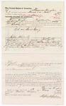 1879 May 05: Voucher, to Thomas Hughes, of Fayetteville, Arkansas, for assisting H.C. Martin, U.S. deputy marshal, in U.S. Baid Craig; Stephen Wheeler, commissioner; D.P. Upham, U.S. marshal