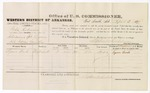 1879 April 3: Voucher, U.S. v. Toke Robinson, introducing spirituous liquors into Indian Country; includes cost of per diem and mileage; Square Ward, witness; D.P. Upham, U.S. marshal; Stephen Wheeler, commissioner