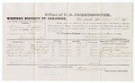 1879 April 3: Voucher, U.S. v. William Prophet, larceny in the Indian Country; includes cost of per diem and mileage; G.W. Moore, J.G. Little, Henderson Grimwitt, and William Wright, witnesses; J.C. Wilkinson, witness of signatures; D.P. Upham, U.S. marshal; Stephen Wheeler, commissioner