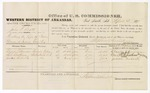 1879 April 5: Voucher, U.S. v. John T. Scott, threating the life of Charles G. Duncan in Indian Country; includes cost of per diem and mileage; Charles Duncan, Darel A. Chatham, and Josiah Roberts, witnesses; George S. Winston, witness of signatures; D.P. Upham, U.S. marshal; Stephen Wheeler, commissioner
