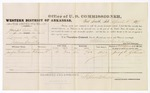 1879 April 5: Voucher, U.S. v. Calvin Grey, larceny in the Indian Country; includes cost of per diem and mileage; Joseph Goldman, witness; D.P. Upham, U.S. marshal; Stephen Wheeler, commissioner