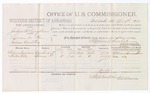 1879 April 9: Voucher, U.S. v. Joshua McLaughlan, larceny in the Indian Country; includes cost of per diem and mileage; William Donalson and Woster Wily, witnesses; D.P. Upham, U.S. marshal; Stephen Wheeler, commissioner