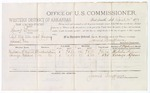 1879 April 14: Voucher, U.S. v. Henry Barnes, retail liquor dealer not paying special tax; includes cost of per diem and mileage; Malcolm H. Moore and Lorenzo Spears, witnesses; D.P. Upham, U.S. marshal; James Brizzolara, commissioner