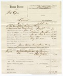 1880 February 2: Partial voucher, U.S. v. Joe Cup, larceny in the Indian Country; includes cost of warrant, mileage, and feeding one prisoner; Joe Garland, Joel Garland, and Chaney Bell, witnesses; James Bailey, posse comitatus; Herman Moody, guard; served by J.H. Smith, U.S. deputy marshal; James Brizzolara, commissioner