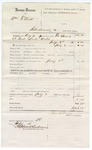 1880 July 03: Voucher, U.S. v. William Elliott, introducing spirituous liquors; includes cost of warrant; served by Ed Burns, U.S. deputy marshal; Stephen Wheeler, commissioner