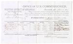 1879 April 10: Voucher, U.S. v. Edward F. Beeson, illicit distilling; includes cost of per diem and mileage; John T. Cotton, Robert S. Edwards, Williams Clark, and Z.M. Ellison, witnesses; George S. Winston, witness of signatures; D.P. Upham, U.S. marshal; Stephen Wheeler, commissioner