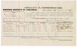 1879 March 31: Voucher, U.S. v. One Jeston, assault with intent to kill; includes cost of per diem and mileage; John Carr, David Carr, N.J. Mickle, and Hermon Mickle, witnesses; George S. Winston, witness of signatures; D.P. Upham, U.S. marshal; James Brizzolara, commissioner
