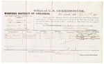 1879 April 7: Voucher, U.S. v. Nip Lewis, larceny in the Indian Country; includes cost of per diem and mileage; Henry Choate and Tony Henderson, witnesses; George S. Winston, witness of signatures; D.P. Upham, U.S. marshal; Stephen Wheeler, commissioner