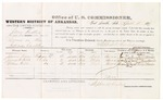 1879 April 4: Voucher, U.S. v. Jerry Foster, larceny in the Indian Country; includes cost of per diem and mileage; James Vann, James H. Hill, and Nathan Hill, witnesses; George S. Winston, witness of signatures; D.P. Upham, U.S. marshal; Stephen Wheeler, commissioner