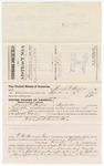 1879 October 24: Voucher, to Thomas P. Hughes, of Fayetteville, Arkansas, for assisting Henry C. Martin, U.S. deputy marshal, in U.S. v. Jack Reed and others (John M. Buckey, Prior Lee, and Britton Finker); E.B. Harrison, commissioner; Stephen Wheeler, clerk; D.P. Upham, U.S. marshal