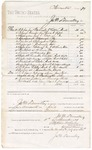 1879 December 11: Voucher, to James W. Donnelley; includes cost of railroad ticket from Washington D.C. to Little Rock, Arkansas and food along the way; Stephen Wheeler, clerk
