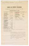 1879 November 10: Petit jury summons, U.S. v. Cubby Colbert, assault with intent to kill; Henry Atkinson, James E. Brietz, Benjamin Brent (line through name), John H. Blackwell (line through name), Robert Boydston, Ernest Beck (line through name), Charles Bracht, Eli G. Collier (line through name), George W.L. Cox, Coston W. Conrad (line through name), Rolin Crawford, John Carnall, Patrick T. Devany (line through name), John S. Douglas (line through name), Charles T. Dotson (line through name), Isaac Davis (line through name), William A. Farmer, Thomas J. Hamnett (line through name), Hezekiah Highfill, Samuel Holleman (line through name), Elijah B. Jones, Joseph N. Lively (line through name), John T. Milsap (line through name), Benjamin D. McWhorter (line through name), John T. Perry (line through name), Pleasant M. Phillips (line through name), William J. Peevyhouse (line through name), William F. Patton, Charles B. Sisker (line through name), William B. Sutton (line through name), Martin Stetzel, Joseph F. Stokes, Robert M. Stephens (line through name), George N. Spradling, Byron J.M. Trotter, Henry Turner (line through name), Benjamin Vaughan Sr, Peter Muder, Benjamin Brent, and Ernest Beck, jurors; Stephen Wheeler, clerk