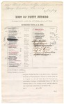 1879 February 12: Petit jury summons, U.S. v. Matt Russell, Ben Stephenson, and George Wordly, larceny; Henry Atkinson (line through name), James E. Brietz (line through name), Benjamin Brent (line through name), John H. Blackwell, Robert Boydston (line through name), Ernest Beck (line through name), Charles Bracht (line through name), Eli G. Collier (line through name), George W.L. Cox (line through name), Coston W. Conrad (line through name), Rolin Crawford (line through name), John Carnall (line through name), Patrick T. Devany (line through name), John S. Douglas (line through name), Charles T. Dotson, Isaac Davis, William A. Farmer, Thomas J. Hamnett (line through name), Hezekiah Highfill (line through name), Samuel Holleman, Elijah B. Jones (line through name), Joseph N. Lively (line through name), John T. Milsap (line through name), Benjamin D. McWhorter (line through name), John T. Perry (line through name), Pleasant M. Phillips, William J. Peevyhouse (line through name), William F. Patton (line through name), Charles B. Sisker, William B. Sutton (line through name), Martin Stetzel, Joseph F. Stokes, Robert M. Stephens (line through name), George N. Spradling (line through name), Byron J.M. Trotter (line through name), Henry Turner (line through name), Benjamin Vaughan Sr, Peter Brader (line through name), Moses Harrell (line through name), Edward Pennington (line through name), Anton Euper, Robert Green, Charles Schmeiding, and Alfred Wilson (line through name), jurors; Stephen Wheeler, clerk