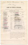 1879 December 13: Petit jury summons, U.S. v. Robert Thompson, larceny; Henry Atkinson (line through name), James E. Brietz (line through name), Benjamin Brent (line through name), John H. Blackwell (line through name), Robert Boydston (line through name), Ernest Beck, Charles Bracht, Eli G. Collier (line through name), George W.L. Cox (line through name), Coston W. Conrad (line through name), Rolin Crawford (line through name), John Carnall (line through name), Patrick T. Devany (line through name), John S. Douglas (line through name), Charles T. Dotson (line through name), Isaac Davis (line through name), William A. Farmer (line through name), Thomas J. Hamnett (line through name), Hezekiah Highfill (line through name), Samuel Holleman (line through name), Elijah B. Jones (line through name), Joseph N. Lively (line through name), John T. Milsap (line through name), Benjamin D. McWhorter (line through name), John T. Perry (line through name), Pleasant M. Phillips (line through name), William J. Peevyhouse (line through name), William F. Patton (line through name), Charles B. Sisker (line through name), William B. Sutton (line through name), Martin Stetzel, Joseph F. Stokes (line through name), Robert M. Stephens (line through name), George N. Spradling (line through name), Byron J.M. Trotter, Henry Turner (line through name), Benjamin Vaughan Sr (line through name), Peter Brader, Moses Harrell (line through name), Edward Pennington (line through name), Anton Euper (line through name), Charles Smeding, Robert Green, Henry Wegner, William H. Rogers, Alfred Wilson (line through name), William J. Peggyhouse, and George N. Spradling, jurors; Stephen Wheeler, clerk