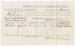 1879 December 20: Voucher, U.S. v. William Jackson, assault with intent to kill in Indian Country; includes cost of per diem and mileage; Alex Wade, witness; John Paterson, witness of signatures; Stephen Wheeler, commissioner