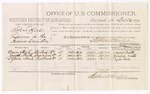 1879 December 23: Voucher, U.S. v. Robert Kirk, larceny; includes cost of per diem and mileage; Moses Smith, Joseph Smith, and Squire Ward, witnesses; D.P. Upham, U.S. marshal; Stephen Wheeler, commissioner