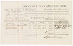 1879 December 26: Voucher, U.S. v. Charles Hendricks, introducing spirituous liquors into the Indian Country; includes cost of per diem and mileage; John Kelly, Frank James, and Napoleon Terrier, witnesses; John Paterson, witness of signatures; D.P. Upham, U.S. marshal; Stephen Wheeler, commissioner