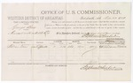 1879 December 27: Voucher, U.S. v. George Bass, assault with intent to kill; includes cost of per diem and mileage; William Vann, witness; D.P. Upham, U.S. marshal; Stephen Wheeler, commissioner