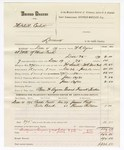1880 January 13: Partial voucher, U.S. v. Mitchell Corbett, larceny in the Indian Country; includes cost of mileage, feeding one prisoner, and one guard; Ben F. Ayers, posse comitatus; Frank Tucker, guard; W.R. Ayers, U.S. deputy marshal; James Roff and Thomas Childers, witnesses; Stephen Wheeler, commissioner