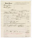 1880 January 12: Partial voucher, U.S. v. Edward Jones and William Jones, larceny in the Indian Country; includes cost of mileage, feeding one prisoner, and discharging prisoner; Ben F. Ayers, posse comitatus; W.R. Ayers, U.S. deputy marshal; W.M. Garnell and Mac Cowan, witnesses