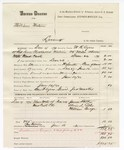 1880 January 16: Partial voucher, U.S. v. William Watson, larceny in the Indian Country; includes cost of mileage, feeding one prisoner and one guard, and discharging prisoner; Ben F. Ayers, posse comitatus; James Mackey, guard; W.R. Ayers, U.S. deputy marshal; James Pelton, Alvin L. Cobb, and William Burge, witnesses; John Paterson, witness of signatures; Stephen Wheeler, commissioner