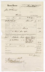 1880 January 26: Voucher, U.S. v. Joel McKinney, murder in the Indian Country; includes cost of mileage, committing and discharging prisoner; W.R. Ayers, U.S. deputy marshal; William Milton, William Jones, Ben Cape, Dick Sheler, and Thomas Scott, witnesses; James Brizzolara, commissioner; Stephen Wheeler, clerk