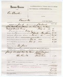 1880 February 17: Partial voucher, U.S. v. One Chandler, assault in the Indian Country; includes cost of mileage, feeding one prisoner, and committing to jail; Ed Jones, guard; Jack Dunford, William Stewart, and Sarah Reed, witnesses; J.W. Searle, U.S. deputy marshal; Stephen Wheeler, commissioner