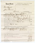 1880 February 18: Partial voucher, U.S. v. One Hymette (alias Jonas Burrows), larceny in the Indian Country; includes cost of mileage, feeding one prisoner, and discharging prisoner; Suck Carmen and Joe Fecumby, witnesses; J.W. Searle, U.S. deputy marshal; Stephen Wheeler, commissioner