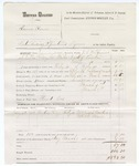 1880 March 06: Voucher, U.S. v. Lewis Rowe, introducing spirituous liquors; includes cost of mileage, feeding one prisoner, and committing to jail; Claud Cox, posse comitatus; Mrs Joseph Bowlin and Mrs B.W. Mann, witnesses; J.C. Wilkinson, U.S. deputy marshal; Stephen Wheeler, commissioner
