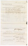 1880 January 28: Voucher, to J.P. Clarke; includes cost for services as crier in attendance before the U.S. court; D.P. Upham, U.S. marshal; Stephen Wheeler and G.S. Williams, clerk