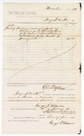 1880 January 29: Voucher, to George S. Winston; includes services as janitor in attendance of the U.S. district court; D.P. Upham, U.S. marshal; Stephen Wheeler, clerk
