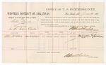1880 June 29: Voucher, U.S. v. Willis Daniels, larceny in the Indian Country; includes cost of per diem and mileage; Ellis McClure, witness; John Paterson, witness of signatures; D.P. Upham, U.S. marshal; Stephen Wheeler, commissioner