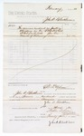 1880 March 01: Voucher, to John A. Blackburn; includes cost for services rendered as janitor in attendance of the U.S. district court; D.P. Upham, U.S. marshal; Stephen Wheeler and G.S. Williams, clerk
