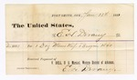 1881 January 12: Voucher, to E.H. Devany; includes cost of one dozen shoes; V. Dell, U.S. marshal