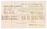 1880 February 16: Voucher, U.S. v. Isaac Owens, larceny in the Indian Country; includes per diem and mileage; Edward H. Doyle, Carl G. Rodman, James S. Davis, and Isaac Holcombe, witnesses; D.P. Upham, U.S. marshal; Stephen Wheeler, commissioner