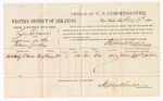 1880 February 17: Voucher, U.S. v. Len Johnson, larceny in the Indian Country; includes cost of per diem and mileage; Archibald J. Hall, witnesses; John Paterson, witness of signature; D.P. Upham, U.S. marshal; Stephen Wheeler, commissioner