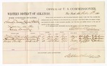 1880 February 18: Voucher, U.S. v. Samuel Duncan and Lewis Webster, larceny in the Indian Country; includes cost of per diem and mileage; Nathan Colbert, Hamilton Woods, and George Smith, witnesses; John Paterson, witness of signatures; D.P. Upham, U.S. marshal; Stephen Wheeler, commissioner